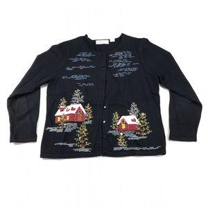 Dress Barn Holiday Christmas Cardigan Sweater